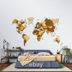 150cm L size 59 World Map Wooden World Map, Office Decor Wall 3D push pins gift
