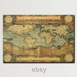 16th Century World Map Antique and Vintage World Maps Canvas Art Print for Wall