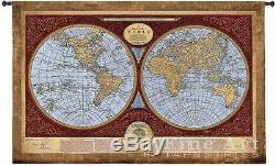 36x53 MAP OF THE WORLD Globe Art Tapestry Wall Hanging