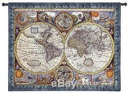 37x45 NEW MAP OF THE WORLD Globe Tapestry Wall Hanging