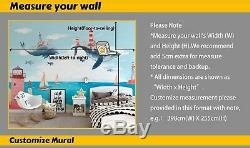 3D Animals World Map Wallpaper Wall Mural Removable Self-adhesive Sticker B408