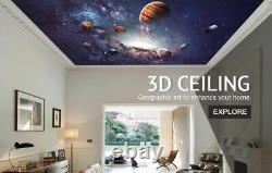 3D Blue World Map NA741 Wallpaper Wall Mural Removable Self-adhesive Sticker Amy