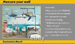 3D Colorful World Map Self-adhesive Removable Wallpaper Murals Wall