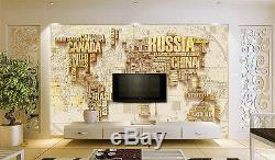 3D Fashionable World Map 718 Paper Wall Print Wall Decal Wall Deco Indoor Murals