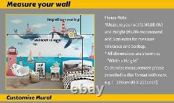 3D Kids Animals World Map Wallpaper Wall Mural Removable Self-adhesive Sticker3