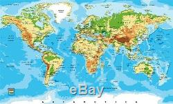 3D Map World 47 Wall Paper Print Wall Decal Deco Indoor Wall Murals