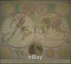 3D The World Map Retro Self-adhesive Removable Wallpaper Wall Mural Sticker
