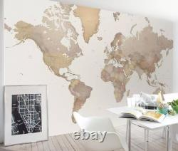 3D The world map Self-adhesive Removable Wallpaper Wall Mural Sticker 323