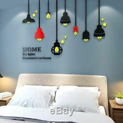 3D Wall Sticker World Map Acrylic For Living Room Office Home Decor Decals
