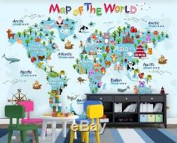 3D World Map Child 5 Wall Paper Exclusive MXY Wallpaper Mural Decal Indoor AJ