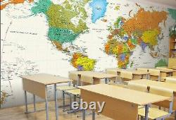 3D World Map N002 Business Wallpaper Wall Mural Self-adhesive Commerce Amy