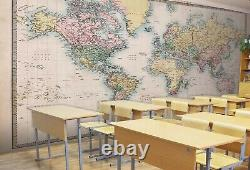 3D World Map O568 Business Wallpaper Wall Mural Self-adhesive Commerce Amy
