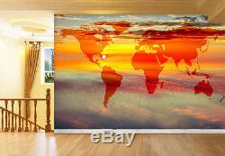 3D World Map Sky 710 Wall Paper Wall Print Decal Wall Deco Indoor AJ Wall Paper