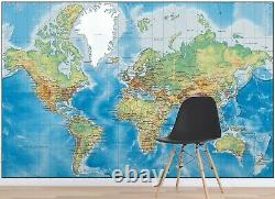 3D World Map ZHUA1458 Wallpaper Wall Murals Removable Self-adhesive Amy