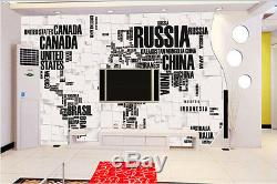 3D World Wide Map Wallpaper Customize Full Wall Mural Photo Printed Home Decor