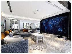 3D world map star Flashes Wall Paper Print Decal Wall Deco Indoor wall Mural