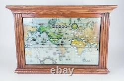 American Vintage Howard Miller World Multi Time Zone Map Lighted Wall Clock Lg