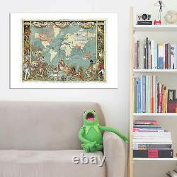 British Empire Map Imperial Map of The World 1886 Wall Art Poster Print