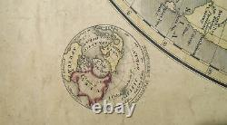 Case and Waters MAP OF THE WORLD 1834 Very Good 16x26