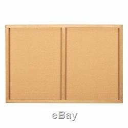 Cork Board Map of The World Wall Mount Bulletin Board with Detailed World Map