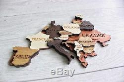 Home Decor World Map Wood Map Wooden Map Wall Map Wood Wall Art L Size