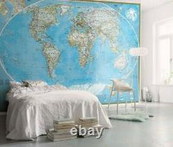Home interior Wall decor Photo Wallpaper Mural 157x110in The World Political Map