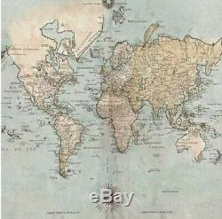 IKEA Snostorp Go Explore Picture Wall Print 003.740.04 Size 98 ½x98 ½ World Map