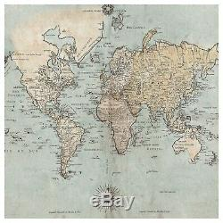 Ikea SNOSTORP Go Explore World Map Picture Wall Print 003.740.04 Large 98 ½x98 ½