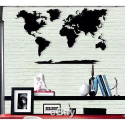 Large World Map Metal Wall Art Home Office Living Room Decoration 5 Pieces