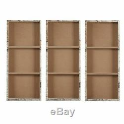 Luxury Oversized 3pc Map of the World Canvas Wall Art 15x35 Each