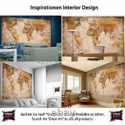 Map of the World Photo Wall Style Vintage Retro Wall Size XXL Decoration Walls