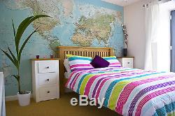 Map of the World Wallpaper Wall Mural Physical FREE DELIVERY