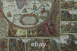 Mappemonde Map of the World French Tapestry Wall Art Hanging (New) 26x39 inch