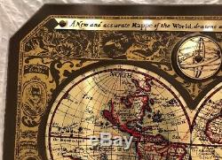 Masketeers 1964 Brass Old World Map Excellent condition