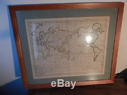 Mercator's Projection A Chart Of The World Showing Discoveries Of Captain Cook