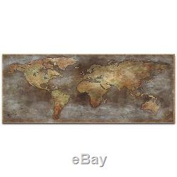 Metal Art Studio 1800s Trade Routes Map' by Ben Judd-Old World Map Wall Decor