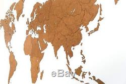 MiMi Innovations Luxurious Wooden World Map Wall Decoration for Living