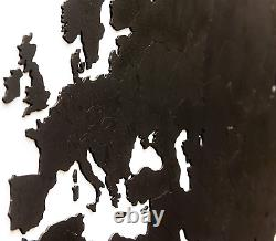 MiMi Innovations Luxurious Wooden World Map Wall Decoration for Living Room, &