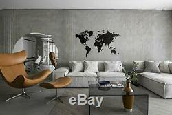 MiMi Innovations Luxurious Wooden World Map Wall Decoration for Living Room