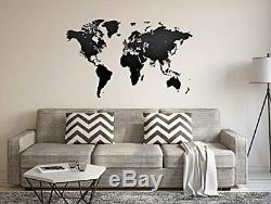 MiMi Innovations Luxurious Wooden World Map Wall Decoration for Living Room, O
