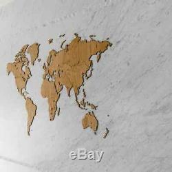 MiMi Innovations Wooden World Map Wall Decoration Exclusive Oak Wood 130x78cm