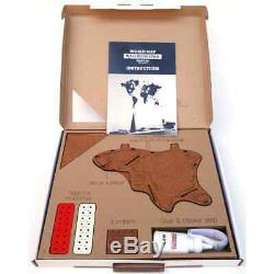 MiMi Innovations Wooden World Map Wall Decoration Luxury Brown HDF 90x54cm