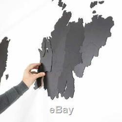MiMi Innovations Wooden World Map Wall Giant Black/Brown 280x170cm/150x90cm
