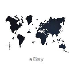 Modern Decor Travel Wall Map of World Wooden Map Home Rustic M, L, XL, XXL Sizes