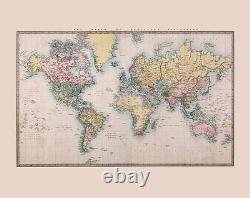 Ohpopsi Historic World Map classic map of the world Wall Mural Wall Art XL