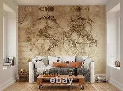 Ohpopsi Vintage World Map Classic Map of the World Wall Mural Wall Art XL