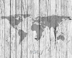 Ohpopsi World Map Timber Wall Modern Map of the World on Wood Mural Wall Art
