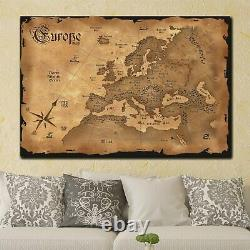 Old Europe Map Antique and Vintage World Maps Canvas Art Print for Wall Decor