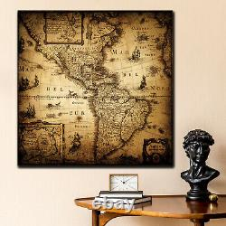 Old Nautical Map Antique and Vintage World Maps Canvas Art Print for Wall Decor