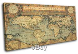 Old World Atlas Latin Vintage Maps Flags SINGLE CANVAS WALL ART Picture Print